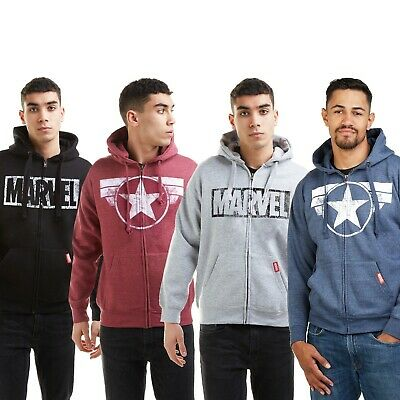 £34.99 • Buy Official Marvel Mens - Captain America Collection - Zip Hoods - Multicoloured