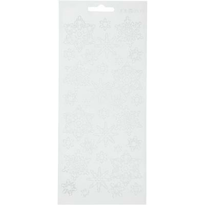 £1.99 • Buy White Self Adhesive Snowflakes Peel Off Stickers Sheet Card Embellishments Craft