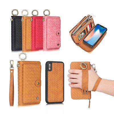 AU43.99 • Buy For IPhone 11 XS Max XR 6S 7 8 Removable Magnetic Zipper Wallet Card Case Cover
