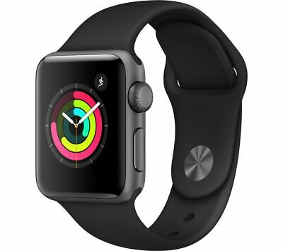 View Details APPLE Watch Series 3 - Space Grey & Black Sports Band, 38 Mm - Currys • 279.00£