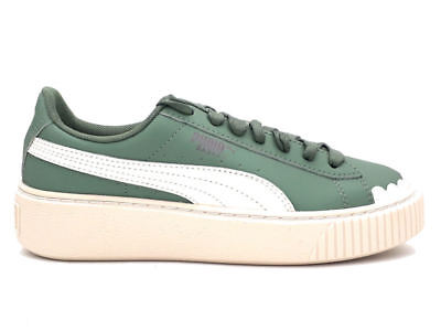 ae471361446 Puma Sneakers Basket Platform Scallop Wn s Verde Bianco 366723-01 • 50.00€