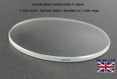 £3.35 • Buy Watch Glass Crystal Lens 17mm-40mm 1.5mm Thick Fits Seiko Citizen Fossil Etc