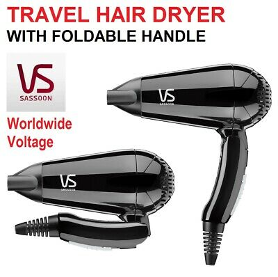 AU32 • Buy VS Sassoon Travel Hairdryer Compact Foldable Blow Dryer Styler Adjustable Heat