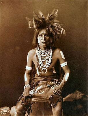 £3.99 • Buy Native American Indian Portrait Snake Priest Photo Art Print Picture