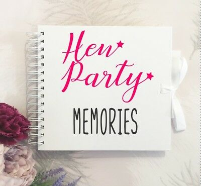 Hen Party Memory Scrapbook,hen Weekend Book -keepsake From The Hens To The Bride • 13£