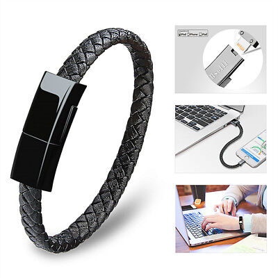 $9.89 • Buy NEW USB Charging Cable Bracelet Fashion Wrist Data Charger Sync Cord Leather