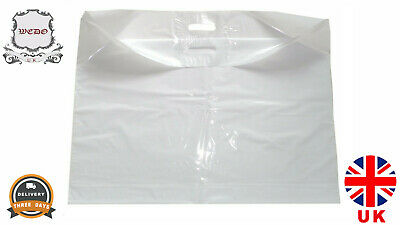 Extra Large 25 X22  Strong White Patch Handle Plastic Carrier Bags • 4.99£