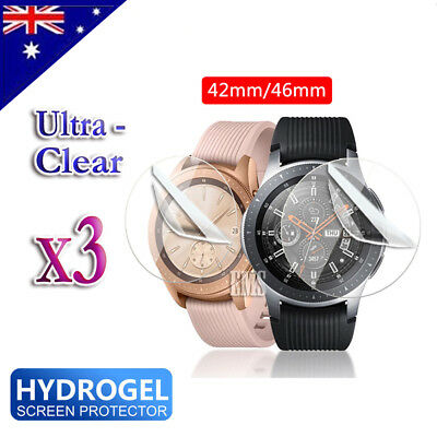 AU4.99 • Buy 3X Full Coverage Screen Protector Guard For Samsung Galaxy Watch 42mm 46mm S2 S3