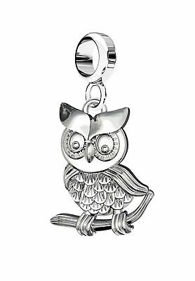 Solid Silver 925 Owl Charm Bead For Charms Bracelet Or Necklace A20B • 6.95£