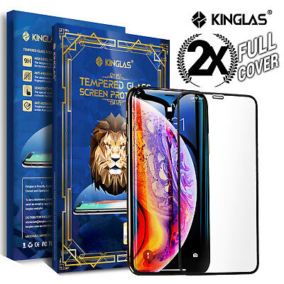 AU8.95 • Buy 2 X IPhone XS Max XR X Full Coverage Tempered Glass Screen Protector For Apple