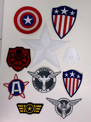 £9.40 • Buy 1940s Captain America Costume Patch Collection- Your Choice Or Sets