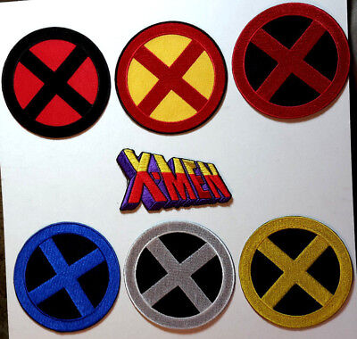 £5.01 • Buy X-Men Costume Logo 3.5  Deluxe Embroidered Patch- 7 Different- Your Choice