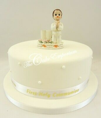 1st First Holy New Communion Praying Boy Bible & Ribbon Cake Decoration Toppers  • 9.99£