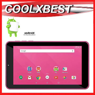 AU55.98 • Buy 7  PINK ANDROID 6.0 TABLET PC QUAD CORE 16GB BLUETOOTH & WiFi KIDS STUDENT