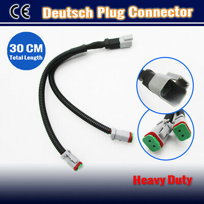 AU15.95 • Buy Deutsch Plug Y Cable 30CM Connector DT 2 To 1 Wiring Harness Joiner Light Bar