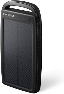 AU46.86 • Buy Ravpower 20000mAh Portable Charger 2-Port Solar Power Bank