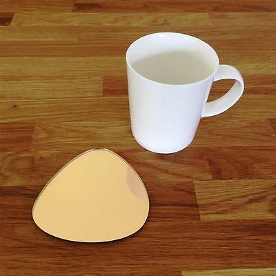 Pebble Shaped Gold Mirror Finish Acrylic Coasters, Sets Of 4, 6 Or 8, 10cm 4  • 18.29£