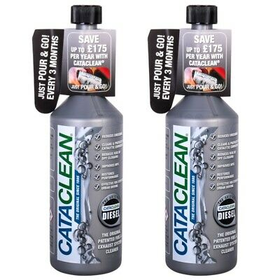 2x CataClean Diesel Fuel Car Engine DPF Exhaust System Catalytic Cleaner 500ml • 24.99£