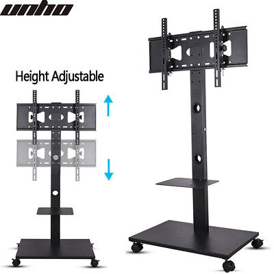£53.95 • Buy 32 -70  Portable TV Mobile Floor Stand Moving Cart Mount Height Adjustable 30KG
