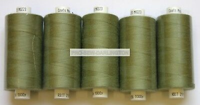 £6.99 • Buy 5 X SAGE GREEN MOON POLYESTER SEWING THREAD COTTON 120s ( M223 )