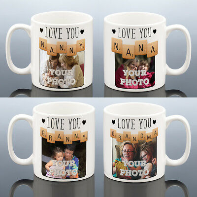 NANNA PHOTO MUG Christmas Gift Love Gran Grandma Photo Cup Nan Birthday Present • 8.49£