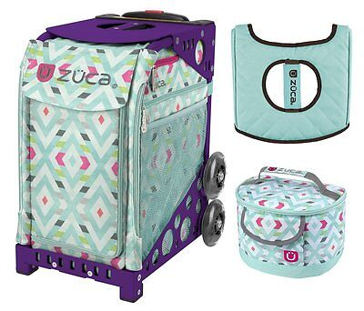 £164.58 • Buy Zuca Sport Bag - Chevron With GIFT Lunchbox And Seat Cover (Purple Frame)