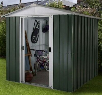 6ft METAL GARDEN SHED YARDMASTER 6x6 APEX HOT DIPPED GALVANISED STEEL STORAGE • 279.94£