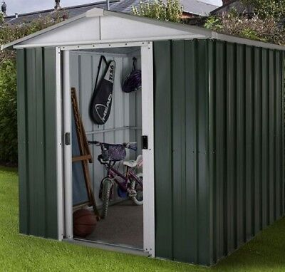 6 X 7 METAL GARDEN SHEDS YARDMASTER SHED 6ft X 7ft APEX GALVANISED STEEL STORAGE • 294.94£