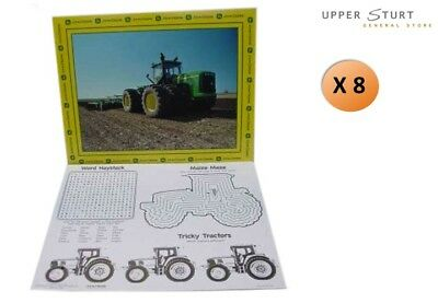 AU19.95 • Buy John Deere Tractor Activity Placemats 8 Pack Favours Birthday Party Supplies