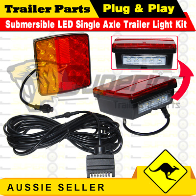 AU71.99 • Buy 2x18 LED Submersible Single Axle Trailer Light Kit ,Plug & Play, Water Proof 12V