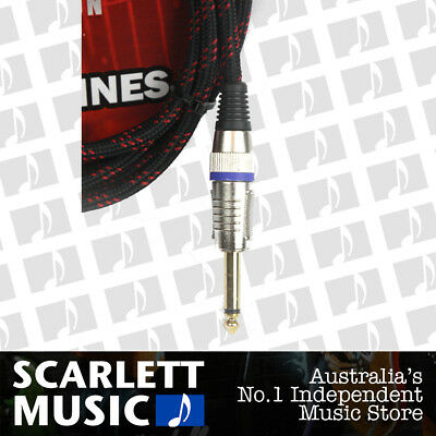 AU26.95 • Buy CARSON 20 Foot Guitar Lead / Instrument Cable *NEW* Noiseless Braided Black/Red