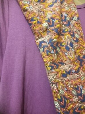 $ CDN50.35 • Buy Lularoe Small Solid Carly S PURPLE + TC Leggings FEATHER Outfit Set  NWT