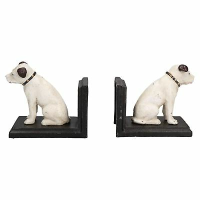 HMV Nipper Dog Bookends Ornament Figurine Cast Iron Book Ends Stand Holder • 20.25£