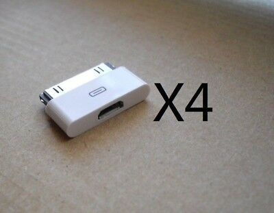 £5.72 • Buy 🔥4X Micro USB Female To 30pin Male Charger Adapter For IPad/iPod/iPhone 4 S🔥