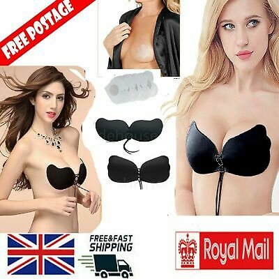 Strapless Silicone Invisible Bra Self Adhesive Stick On Push Up Gel Backless Bra • 3.69£