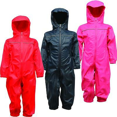 Regatta Paddle Kids Waterproof All-in-one Suit Breathable Rainsuit • 14.50£