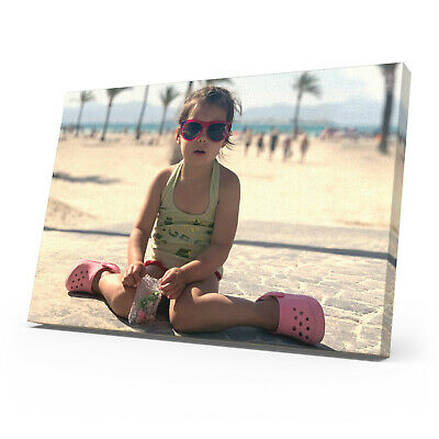 £24.99 • Buy Personalised Photo Canvas Print Your Picture Framed Wall Hanging Canvas Art Gift