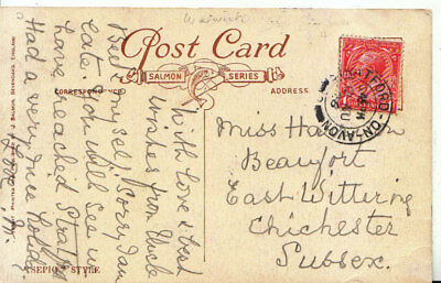Genealogy Postcard - Harrison - East Wittering - Chichester - Sussex - Ref 5499A • 3.99£