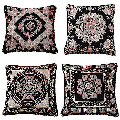 Black Ethnic Oriental Vintage Asian Indian Brocade Cushion With Cover 18  • 7.45£
