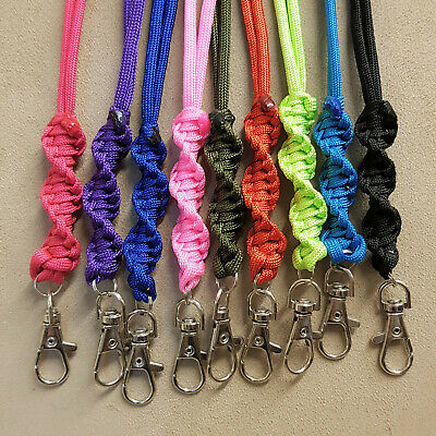 Paracord Lanyard For Gun Dog Training ACME Whistle Twist Design Lots Of Colours • 5.15£