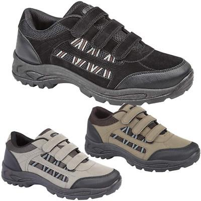Mens Hiking Boots New Walking Ankle Wide Fit Trail Trekking Trainers Shoes Size • 13.95£