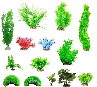 Artificial Aquarium Fish Tank Aquatic Plants Decoration Ornament Flower  • 3.95£