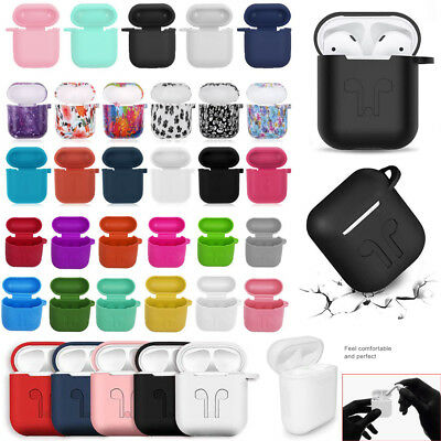 AU8.76 • Buy Silicone Case Cover Skin With Strap Holder For Apple Airpod Accessories Airpods
