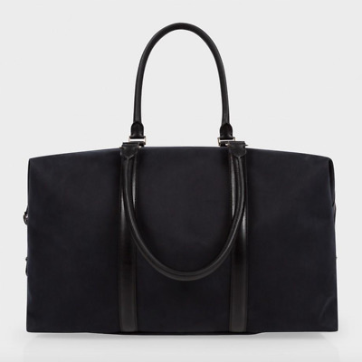 Paul Smith Bag - BNWT Black Canvas & Leather Travel Travely Holdall RRP: £500 • 339£