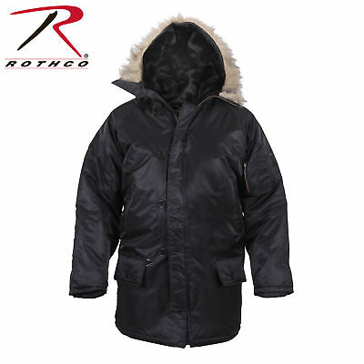 $84.99 • Buy Rothco 9390 Black Cold Weather N-3b Military Mens Snorkel Parka Jacket Xs To 3x