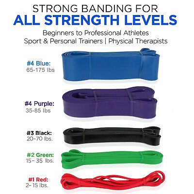 AU123.99 • Buy Pull Up Resistance Bands   Heavy Duty Exercise Fitness Loop Set For Gym Stretch