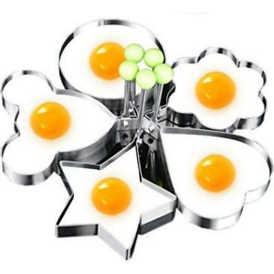 $7.49 • Buy 5Pcs Fried Egg Non Stick Stainless Steel Pancake Ring Mold Cooking Kitchen Tools