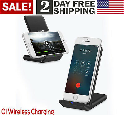 AU41.91 • Buy Rapid Fast Wireless Charger Qi Certified Galaxy IPhone With 3ft Micro USB Cable