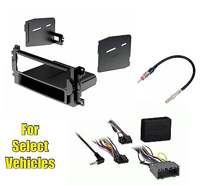 $72.95 • Buy Car Stereo Radio Install Dash Trim Kit Combo For Select Chrysler Etc W/wo Amp