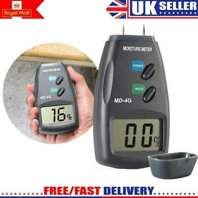 Digital PRO Moisture Meter 4-Pin Damp Detector Timber Wood Tester Plaster Sensor • 16.88£